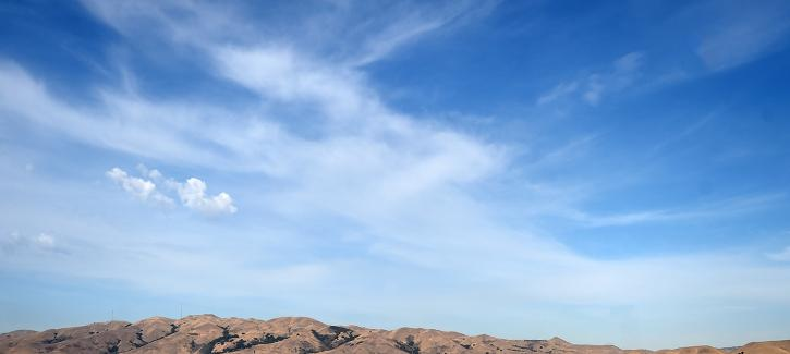 Blue sky over Milpitas